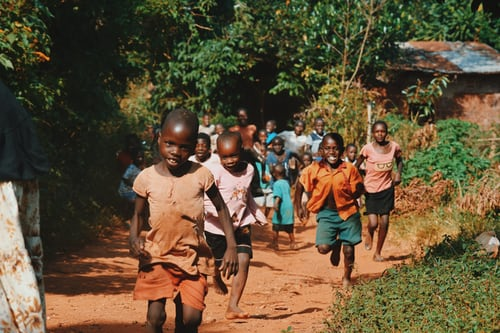 Africa running_children